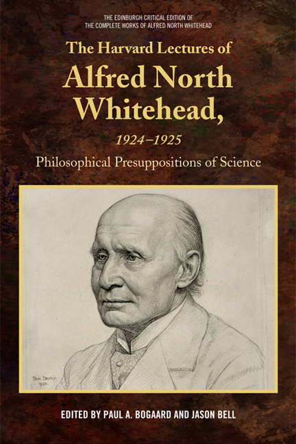 The Harvard Lectures of Alfred North Whitehead, 1924-1925