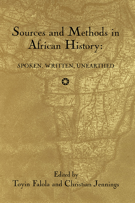 Sources and Methods in African History