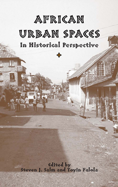 African Urban Spaces in Historical Perspective