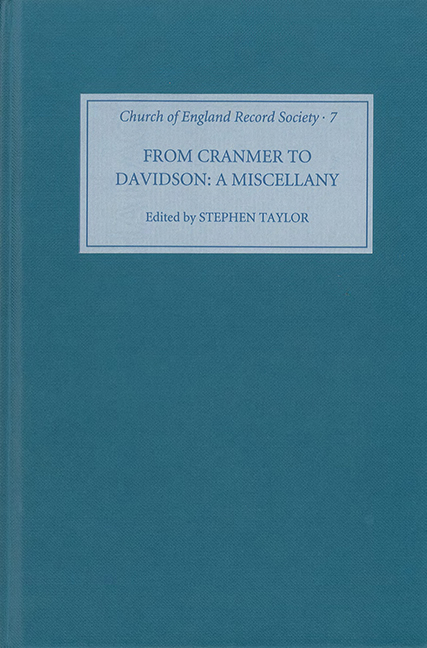 From Cranmer to Davidson