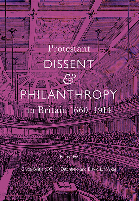 Protestant Dissent and Philanthropy in Britain, 1660–1914
