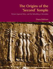 The Origins of the 'Second' Temple