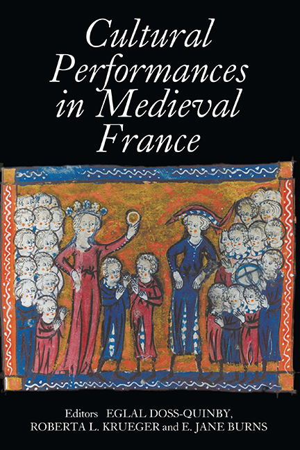 Cultural Performances in Medieval France