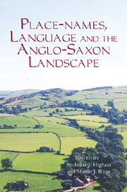 Place-names, Language and the Anglo-Saxon Landscape