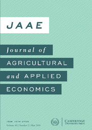 Journal of Agricultural and Applied Economics Volume 48 - Issue 2 -