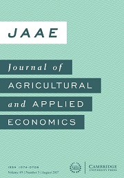 Journal of Agricultural and Applied Economics Volume 49 - Issue 3 -