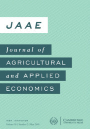 Journal of Agricultural and Applied Economics Volume 50 - Issue 2 -