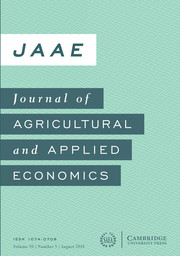 Journal of Agricultural and Applied Economics Volume 50 - Issue 3 -