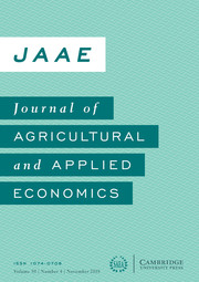 Journal of Agricultural and Applied Economics Volume 50 - Issue 4 -