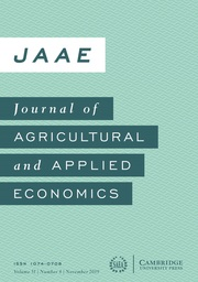 Journal of Agricultural and Applied Economics Volume 51 - Issue 4 -