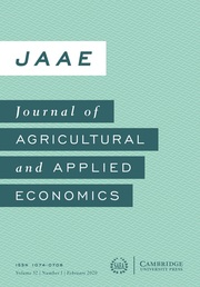 Journal of Agricultural and Applied Economics Volume 52 - Issue 1 -