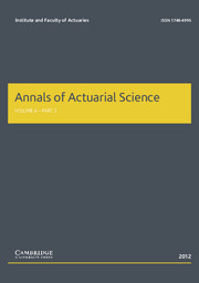 Annals of Actuarial Science Volume 6 - Issue 2 -