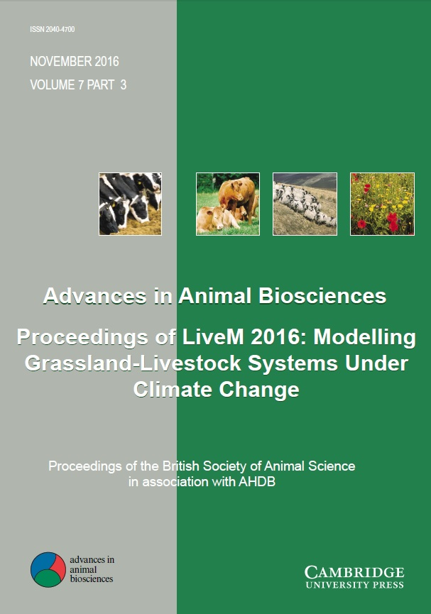 Advances in Animal Biosciences Volume 7 - Special Issue3 -  Proceedings of LiveM 2016: Modelling Grassland-Livestock Systems Under Climate Change