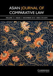 Asian Journal of Comparative Law Volume 13 - Issue 2 -