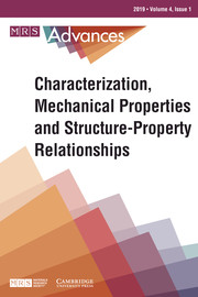 MRS Advances Volume 4 - Issue 1 -  Characterization, Mechanical Properties and Structure-Property Relationships