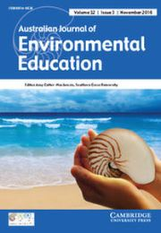 Australian Journal of Environmental Education Volume 32 - Issue 3 -
