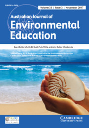 Australian Journal of Environmental Education Volume 33 - Special Issue3 -  2016 Australian Association for Environmental Education Conference: 'Tomorrow Making – Our Present to the Future'