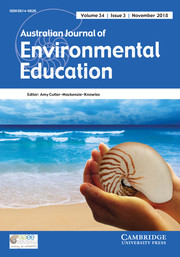 Australian Journal of Environmental Education Volume 34 - Issue 3 -