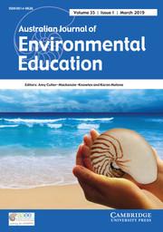 Australian Journal of Environmental Education Volume 35 - Issue 1 -