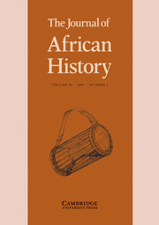 The Journal of African History Volume 50 - Issue 3 -