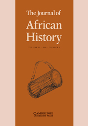The Journal of African History Volume 51 - Issue 3 -
