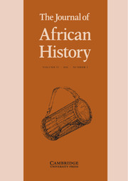 The Journal of African History Volume 53 - Issue 3 -