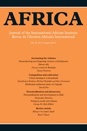 Africa Volume 81 - Issue 3 -