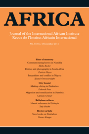 Africa Volume 81 - Issue 4 -