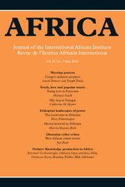Africa Volume 86 - Issue 2 -