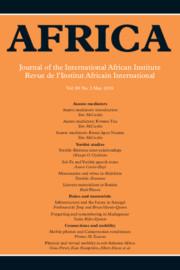 Africa Volume 88 - Issue 2 -