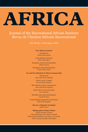 Africa Volume 88 - Issue 4 -