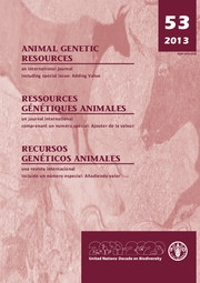 Animal Genetic Resources/Resources génétiques animales/Recursos genéticos animales Volume 53 - Issue  -