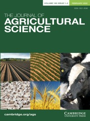 The Journal of Agricultural Science