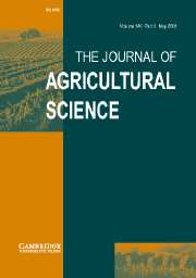 The Journal of Agricultural Science Volume 140 - Issue 3 -