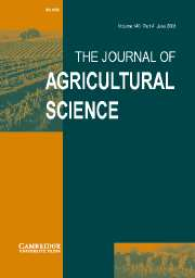 The Journal of Agricultural Science Volume 140 - Issue 4 -