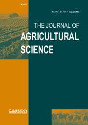 The Journal of Agricultural Science Volume 141 - Issue 1 -