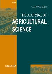 The Journal of Agricultural Science Volume 142 - Issue 3 -