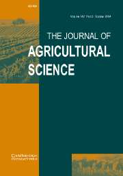 The Journal of Agricultural Science Volume 142 - Issue 5 -