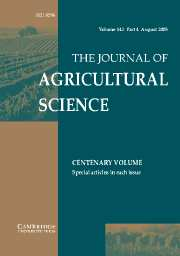 The Journal of Agricultural Science Volume 143 - Issue 4 -
