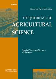 The Journal of Agricultural Science Volume 144 - Issue 5 -