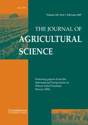 The Journal of Agricultural Science Volume 145 - Issue 1 -