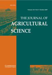 The Journal of Agricultural Science Volume 145 - Issue 5 -