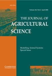 The Journal of Agricultural Science Volume 146 - Issue 2 -  Modelling Animal Systems