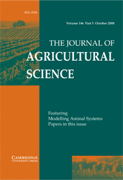 The Journal of Agricultural Science Volume 146 - Issue 5 -