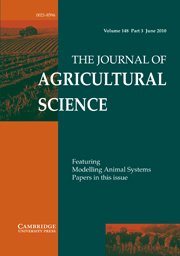 The Journal of Agricultural Science Volume 148 - Issue 3 -