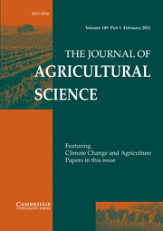 The Journal of Agricultural Science Volume 149 - Issue 1 -