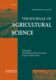 The Journal of Agricultural Science Volume 149 - Issue 3 -