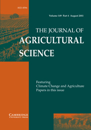 The Journal of Agricultural Science Volume 149 - Issue 4 -
