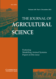 The Journal of Agricultural Science Volume 149 - Issue 6 -