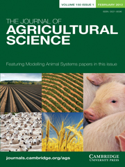 The Journal of Agricultural Science Volume 150 - Issue 1 -